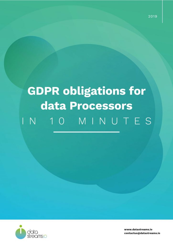 Datastreams documents: GDPR obligations for data Processors